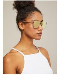 Miss Selfridge - Quay Australia High Key Mini Gold Aviator Sunglasses - Lyst