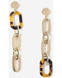 Miss Selfridge - Tortoiseshell Chain Earrings - Lyst