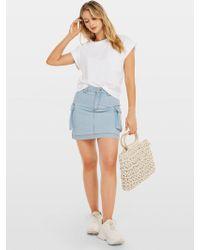 Miss Selfridge Blue Pocket Utility Denim Skirt