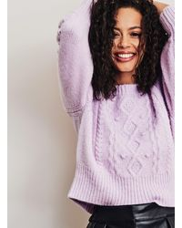 Miss Selfridge Lilac Chunky Bobble Detail Sweater With Recycled Polyester - Purple