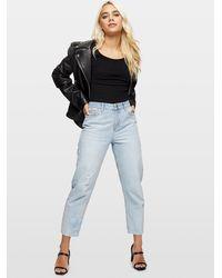 Miss Selfridge Petite Black Short Sleeved Scoop Back Bodysuit