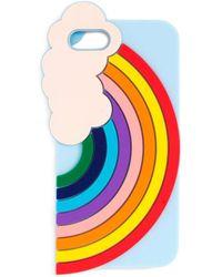 Miss Selfridge Rainbow Iphone Case 6 - Blue