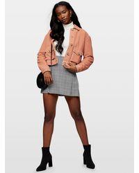 Miss Selfridge Pink Corduroy Jacket
