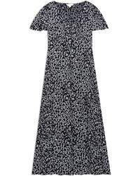 Miss Selfridge - Petite Black Julia Ditsy Maxi Dress - Lyst