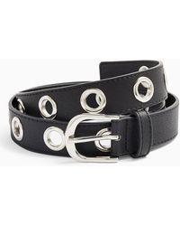 Miss Selfridge Isaac Black Metal Eyelet Belt