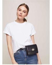 Miss Selfridge - Black Studded Belt Bag - Lyst