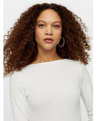 Miss Selfridge Petite Ivory Scoop Back Bodysuit - White