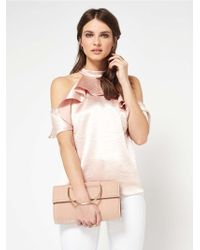 Miss Selfridge Nude O Ring Clutch Bag