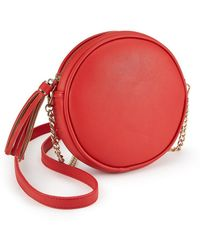 Miss Selfridge - Red Circle Cross Body Bag - Lyst