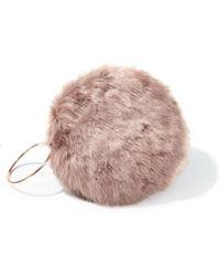 Miss Selfridge - Mink Faux Fur Circle Clutch - Lyst