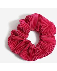 Miss Selfridge - Pink Silky Scrunchie - Lyst