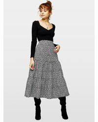 Miss Selfridge Black Long Sleeve Lace Trim Ribbed Bodysuit