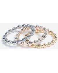 Miss Selfridge - Textured Ring Pack - Lyst