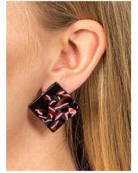 Miss Selfridge - Square Perspex Stud Earrings - Lyst