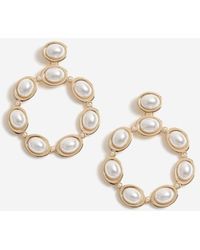 Miss Selfridge Gold Pearl Earrings - Metallic