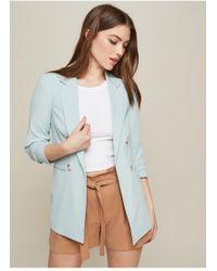 Miss Selfridge - Pale Blue Faux Double Breasted Blazer - Lyst