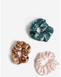 Miss Selfridge Pastel Scrunchie Multipack - Pink