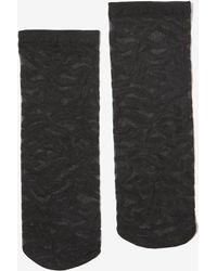 Miss Selfridge Black Sheer Tiger Design Socks