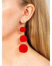 Miss Selfridge Red Prom Earrings