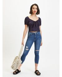 Miss Selfridge Petite Lizzie Blue Jeans