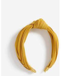 Miss Selfridge Ochre Knot Headband - Yellow