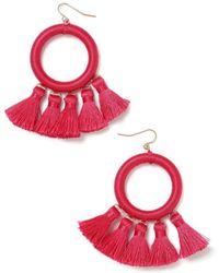 Miss Selfridge - Wrap Hoop Earrings - Lyst
