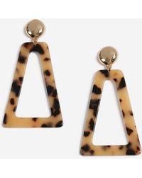 Miss Selfridge - Triangle Tort Earrings - Lyst
