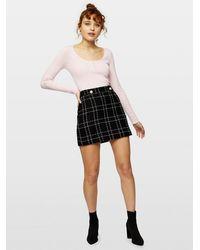 Miss Selfridge Pale Pink Pearl Scoop Neck Knitted Jumper