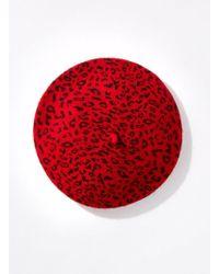 Miss Selfridge - Red Leopard Beret - Lyst