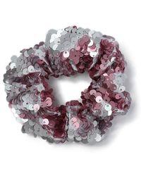 Miss Selfridge - Pink Sequin Scrunchie - Lyst