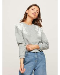 Miss Selfridge | Petite Applique Sweatshirt | Lyst