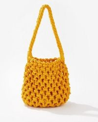 Miss Selfridge Yellow Chunky Rope Bag - Orange