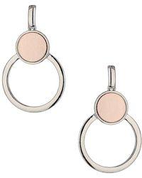 Miss Selfridge - Matte Circle Drop Earrings - Lyst
