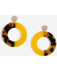 Miss Selfridge - Tortoise Half Earrings - Lyst