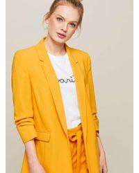 Miss Selfridge   Yellow Ruched Sleeve Blazer   Lyst