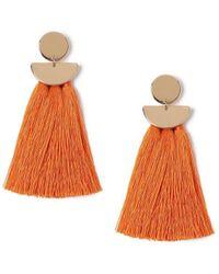 Miss Selfridge - Geo Tassel Earrings - Lyst