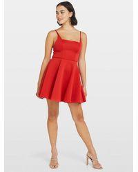 Miss Selfridge Petite Red Scuba Skater Prom Dress