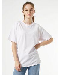 Miss Selfridge Short Sleeve Longline Tie Dye T-shirt - Pink