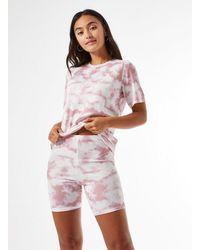 Miss Selfridge - Petite Tie Dye Cycling Shorts - Lyst