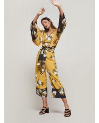 Miss Selfridge Black Printed Pyjama Trousers