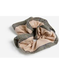 Miss Selfridge Tan Fabric Scrunchie - Brown