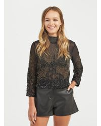Miss Selfridge - Sophie Beaded Blouse - Lyst