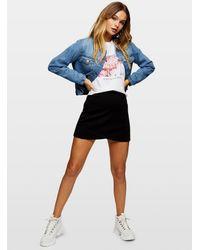 Miss Selfridge Black Scuba Mini Skirt
