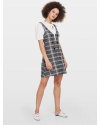 Miss Selfridge 2 In 1 Boucle Mini Dress - Grey