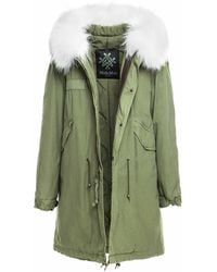Mr & Mrs Italy Army Parka Quilt Lining - White