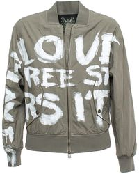 Mr & Mrs Italy Bb222E Embroidery Bomber - Multicolore