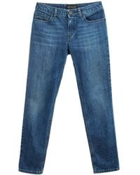 Mr & Mrs Italy Straight Jeans For Woman - Blue