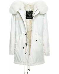 Mr & Mrs Italy Total White Jazzy Midi With Fur