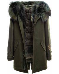 Mr & Mrs Italy New York Parka Midi With Fur - Green