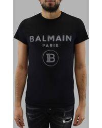 Balmain - T-shirt logo imprim - Lyst